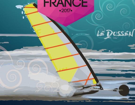 Championnat de France de char à voile à SANTEC